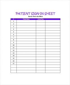 doctor s office sign in sheet template charlotte clergy coalition