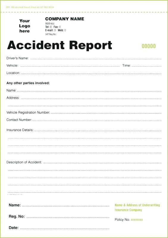 accident report form template   Tier.brianhenry.co