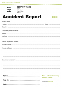 Accident report forms template charlotte clergy coalition for Vehicle accident investigation form template