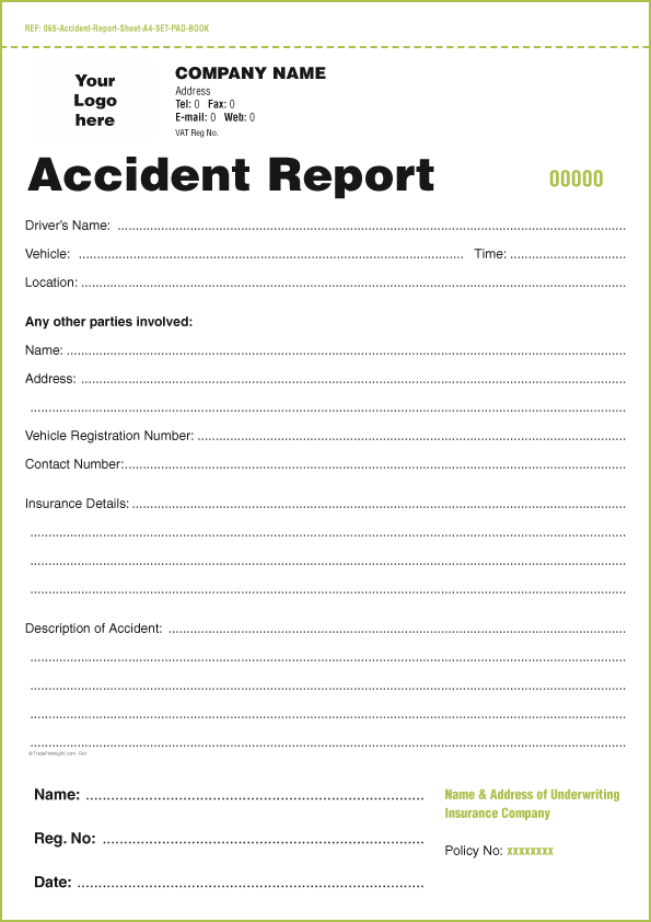 accident form template template incident and accident report form