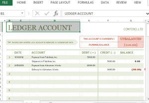 Account Ledger Template