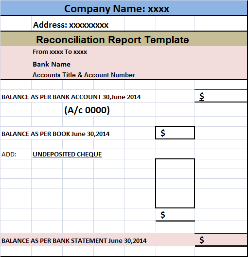 account reconciliation template   Kleo.beachfix.co
