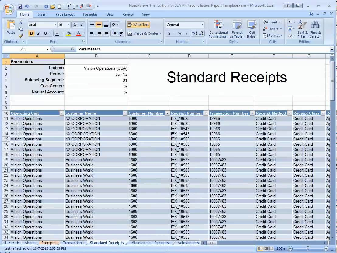 reconciliation spreadsheet expin memberpro co daily bank account
