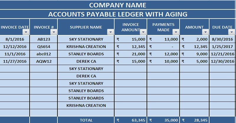 accounts payable excel template   Boat.jeremyeaton.co