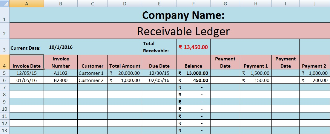 Accounts Payable Invoice Template