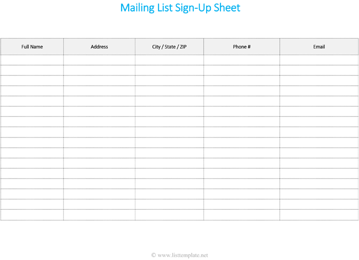 email mailing list template   April.onthemarch.co