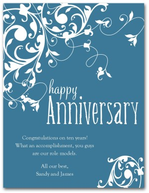 Printable Wedding Anniversary Card Template