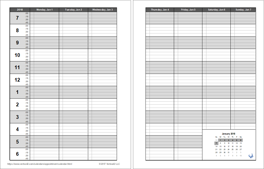 Printable Appointment Book Template   PDF | Pinterest