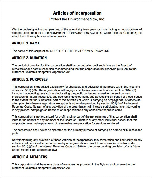 Articles of incorporation example charlotte clergy coalition articles of incorporation worksheet articles of incorporation maxwellsz
