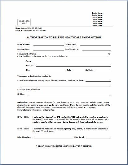 Authorization Forms Samples   charlotte clergy coalition