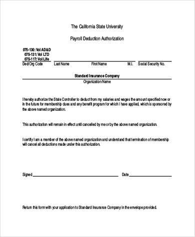8+ Authorization Form Samples   Free sample, Example Format Download