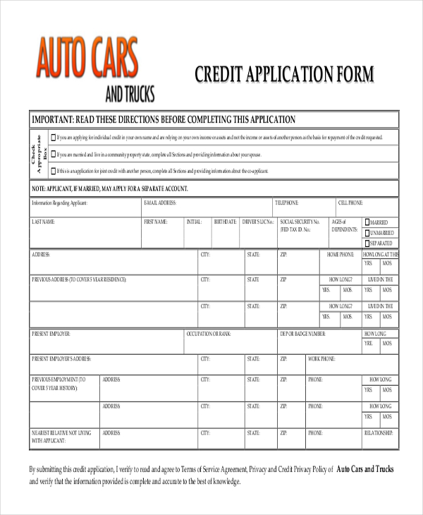 credit application template pdf   April.onthemarch.co
