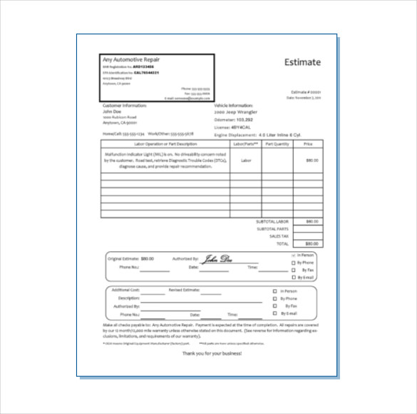 Free Printable Business Forms From Formville Projects To Try Car