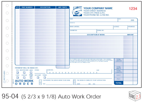 mechanic work order form   April.onthemarch.co