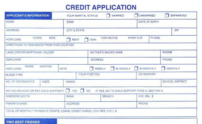 Credit Application Template   32+ Examples in PDF, Word | Free