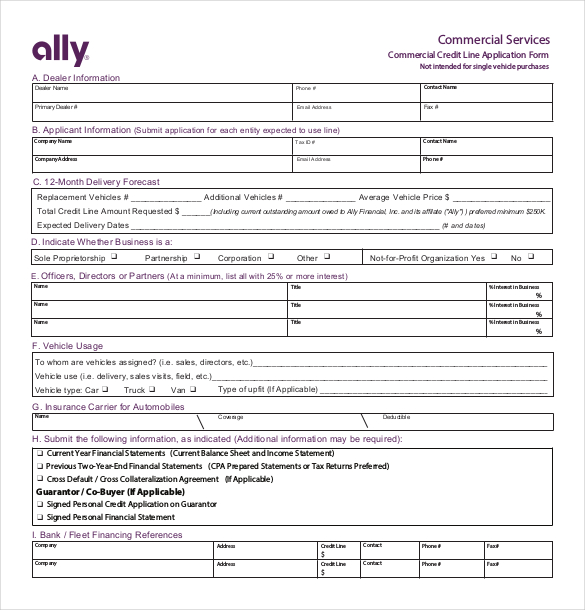 automobile credit application form charlotte clergy coalition