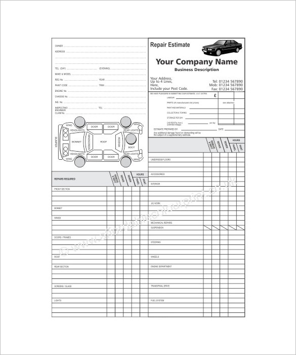 automotive repair template charlotte clergy coalition