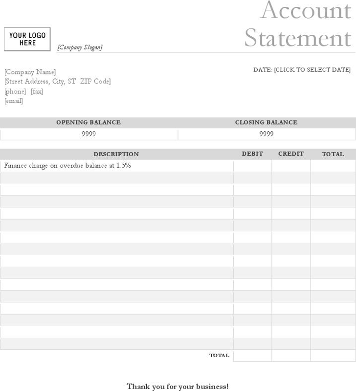 Free Statement Template | Bank Statement Template Download Free Charlotte Clergy Coalition