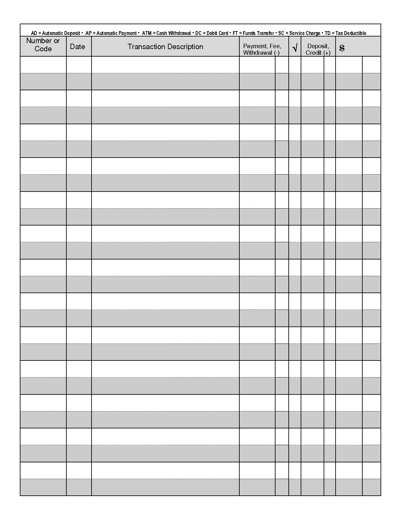 Sample Check Register Template   10+ Free Sample, Example, Format