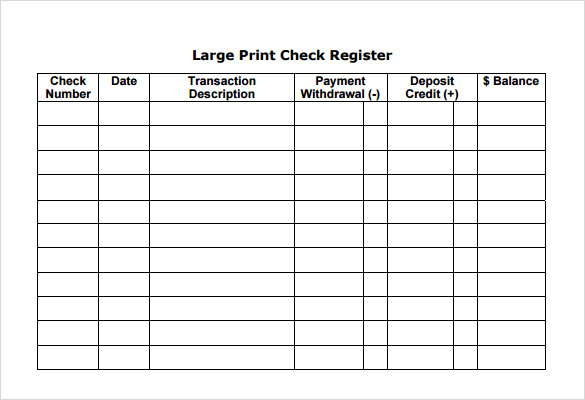 free printable check registers   April.onthemarch.co