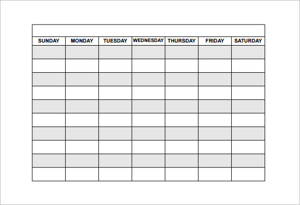 blank employee schedule template   Tier.brianhenry.co