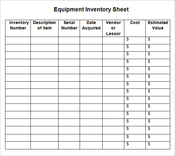 blank inventory form   Kleo.beachfix.co