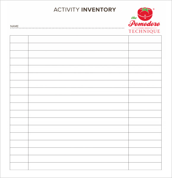 blank inventory sheets Ten Simple (But Important) Things To