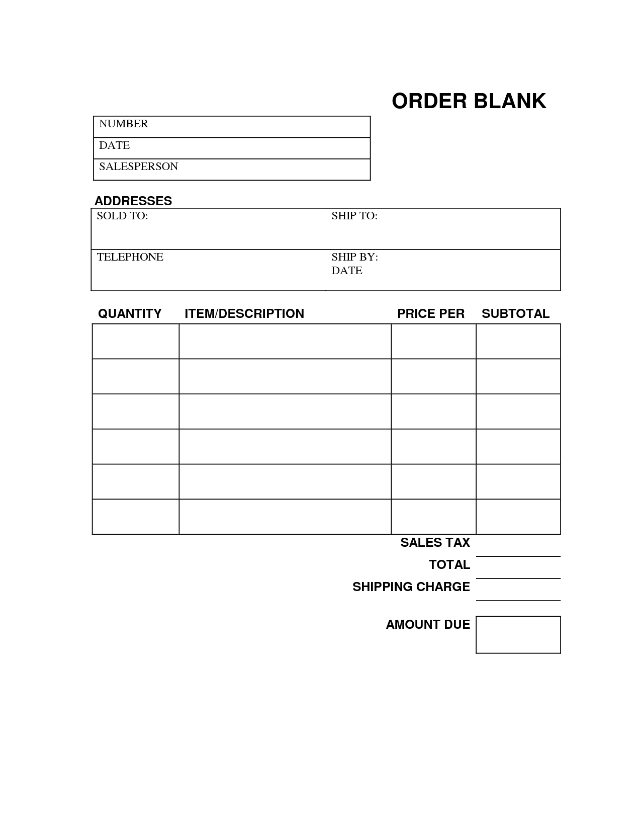 Blank Work Order Form Charlotte Clergy Coalition