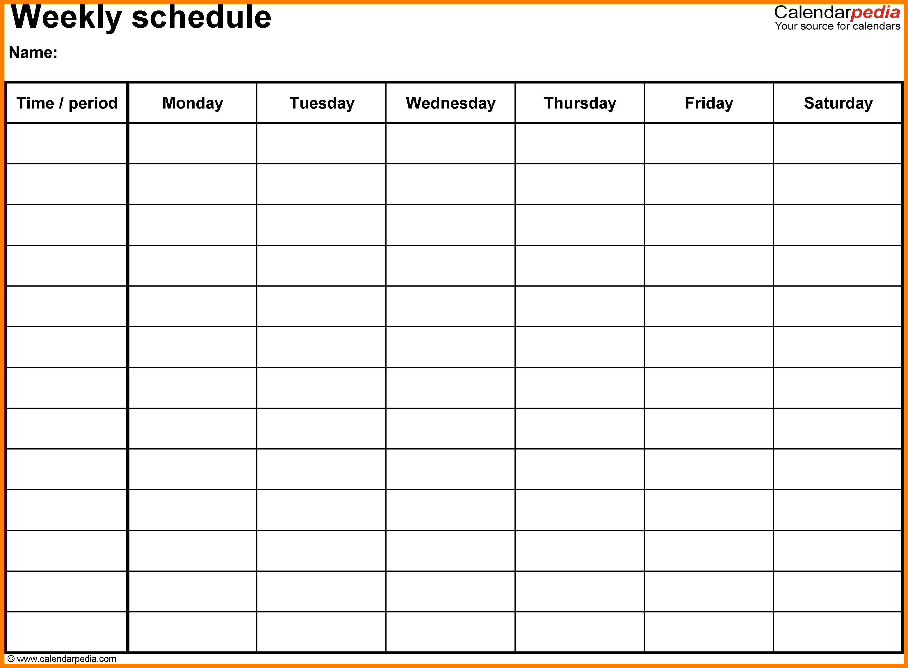 Blank Schedule Template Choice Image Professional Report