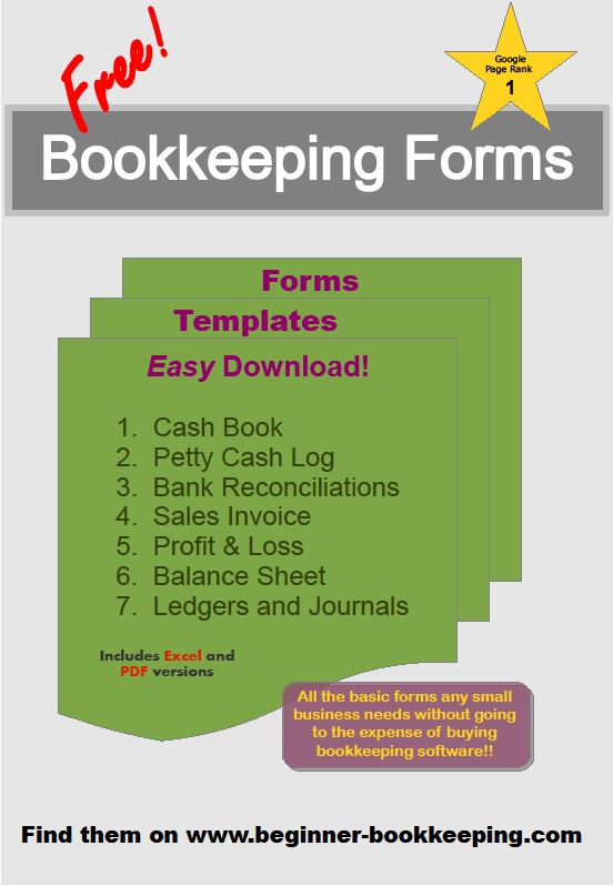 Bookkeeping Forms Free Printable Free Bookkeeping Forms And