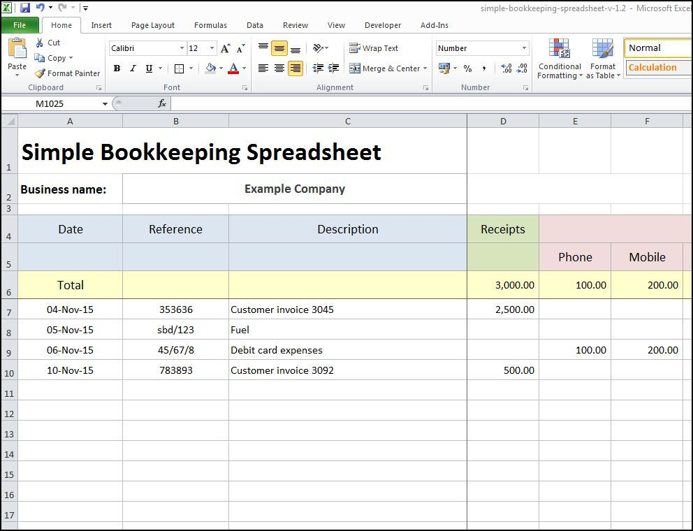 8+ Excel Bookkeeping Templates   Excel Templates