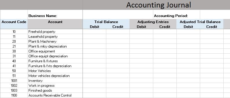 AccountingJournalPic New Picture Bookkeeping Templates   Resume