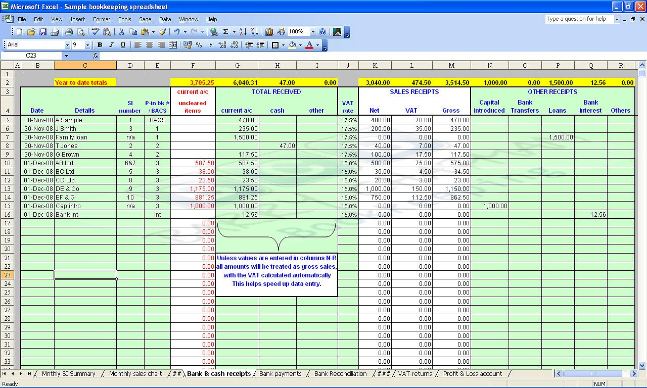 bookkeeping excel templates   Boat.jeremyeaton.co