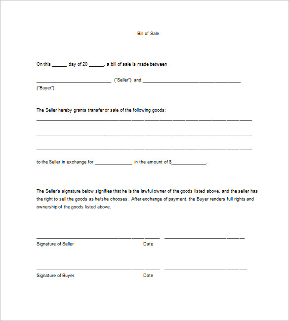 Business bill of sale charlotte clergy coalition business bill of sale form kleoachfix wajeb Images