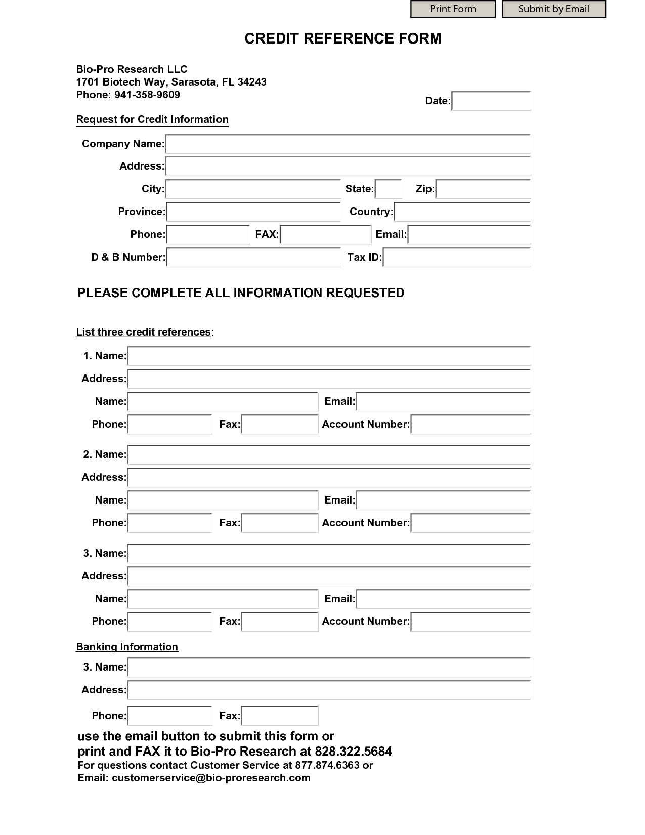 Business credit reference form charlotte clergy coalition for Employment reference check form template