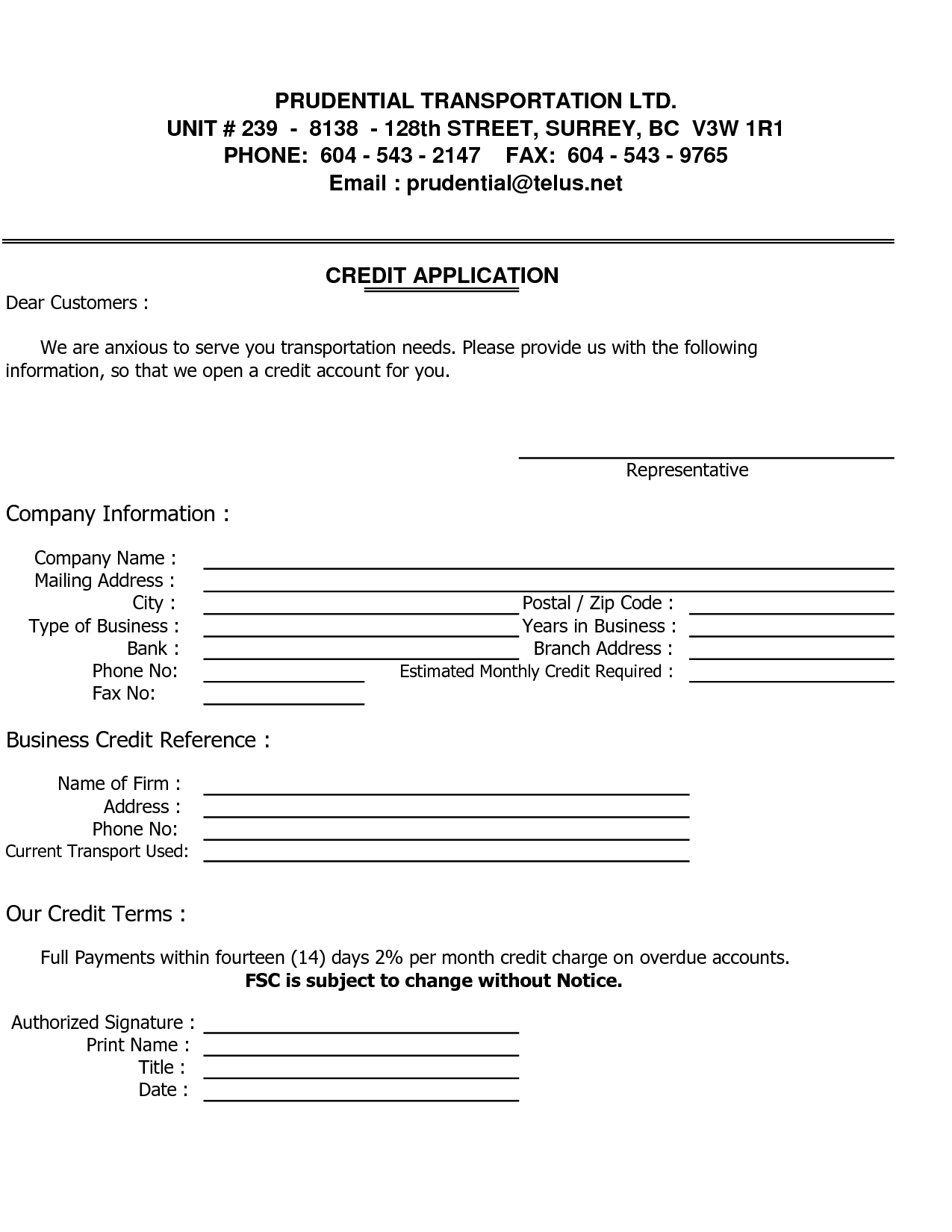 business credit reference form   Kleo.beachfix.co