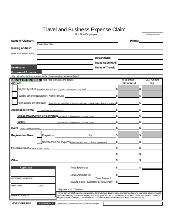 free business expense report template   Boat.jeremyeaton.co