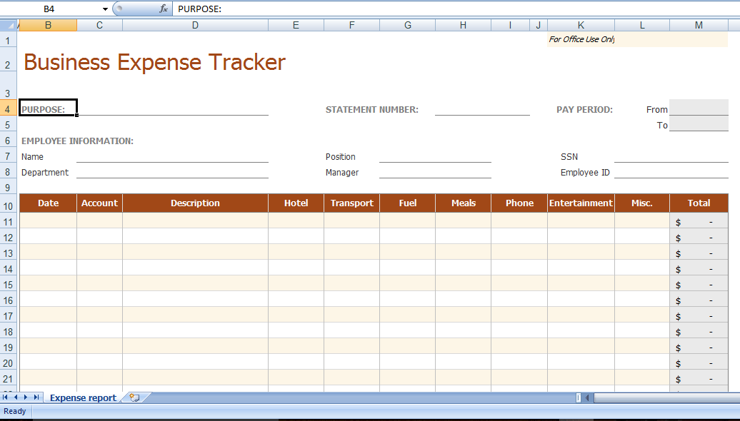 Business Expense Tracker Template 8 Business Expense Tracker