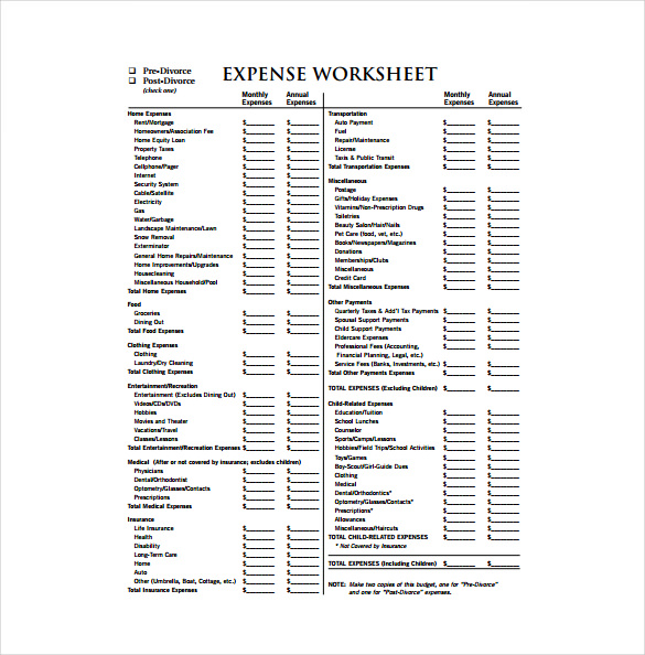 Business expenses template free download charlotte clergy coalition business expenses template free download cheaphphosting Images
