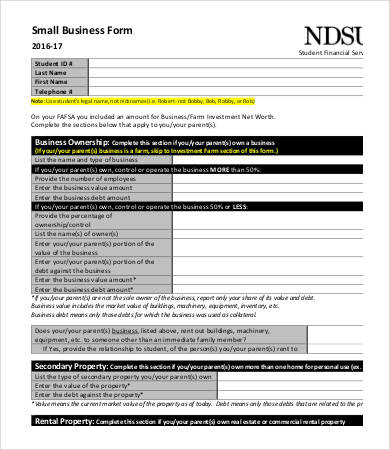 Business Information Form Template Business Forms Templates