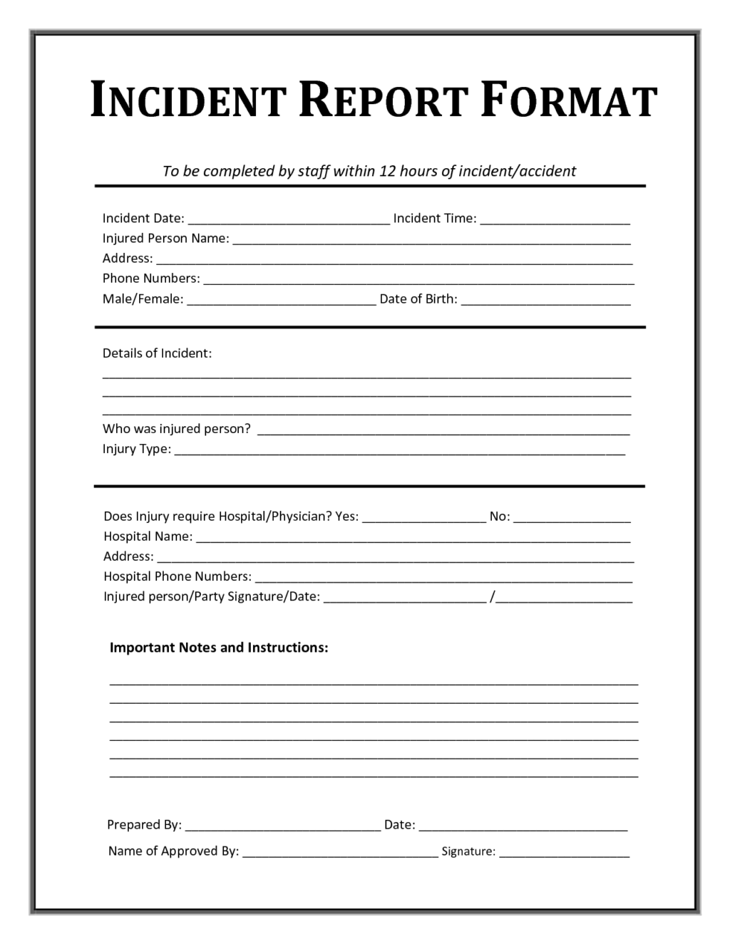 fraud incident report template   Romeo.landinez.co