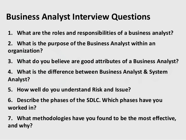 Business Systems Analyst Interview Questions and Answers job