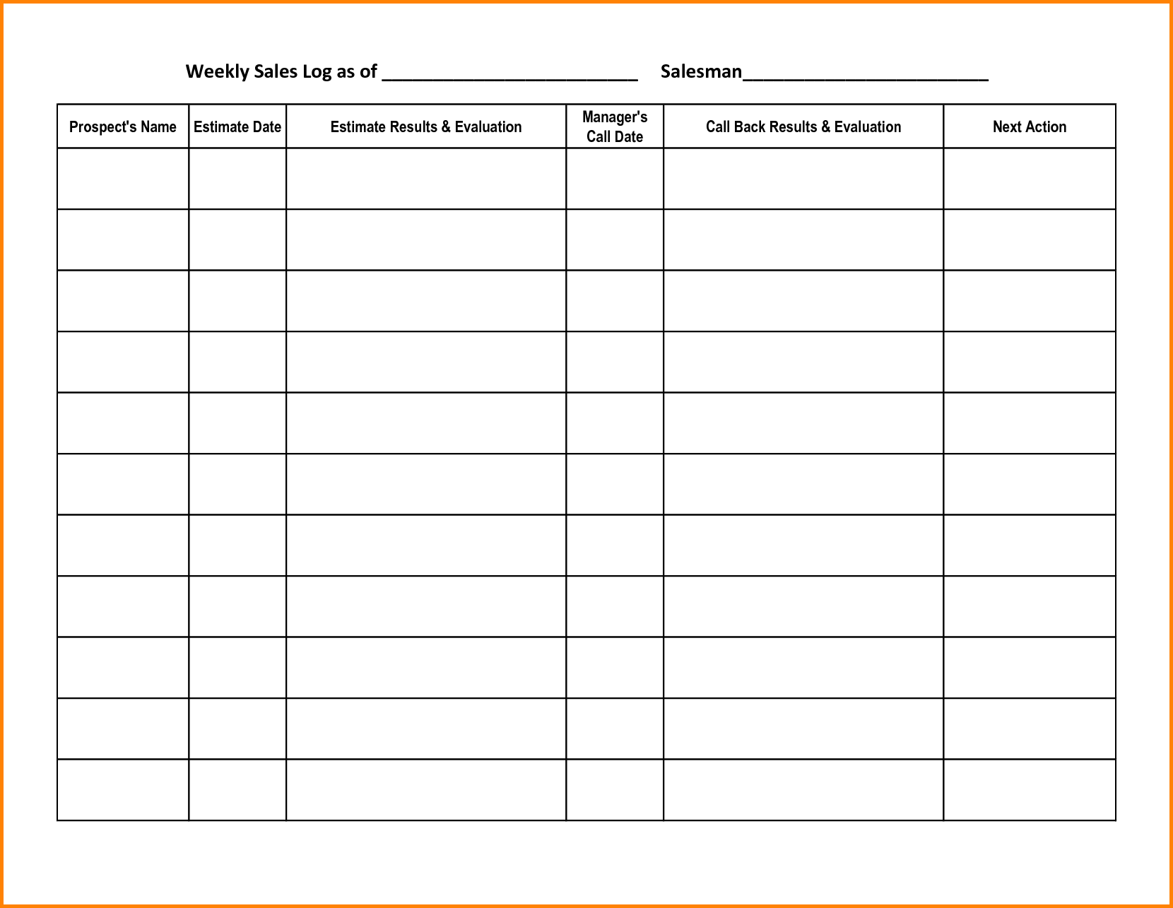 Awesome 17 Call Log Templates In PDF | Sample Templates