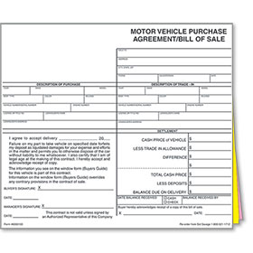 Auto Dealer Forms, Vehicle Appraisal Forms, Car Bill of Sale Forms