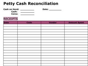 Cash Reconciliation Forms Charlotte Clergy Coalition