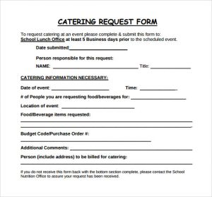 catering form template charlotte clergy coalition