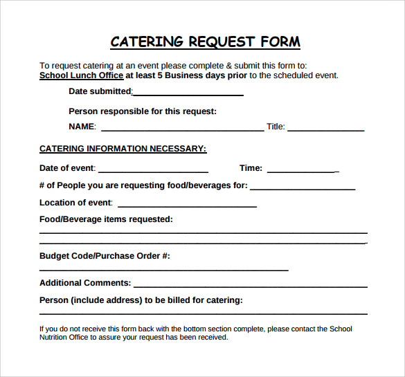 catering order form template word   Kleo.beachfix.co