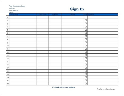 check in sheet   April.onthemarch.co