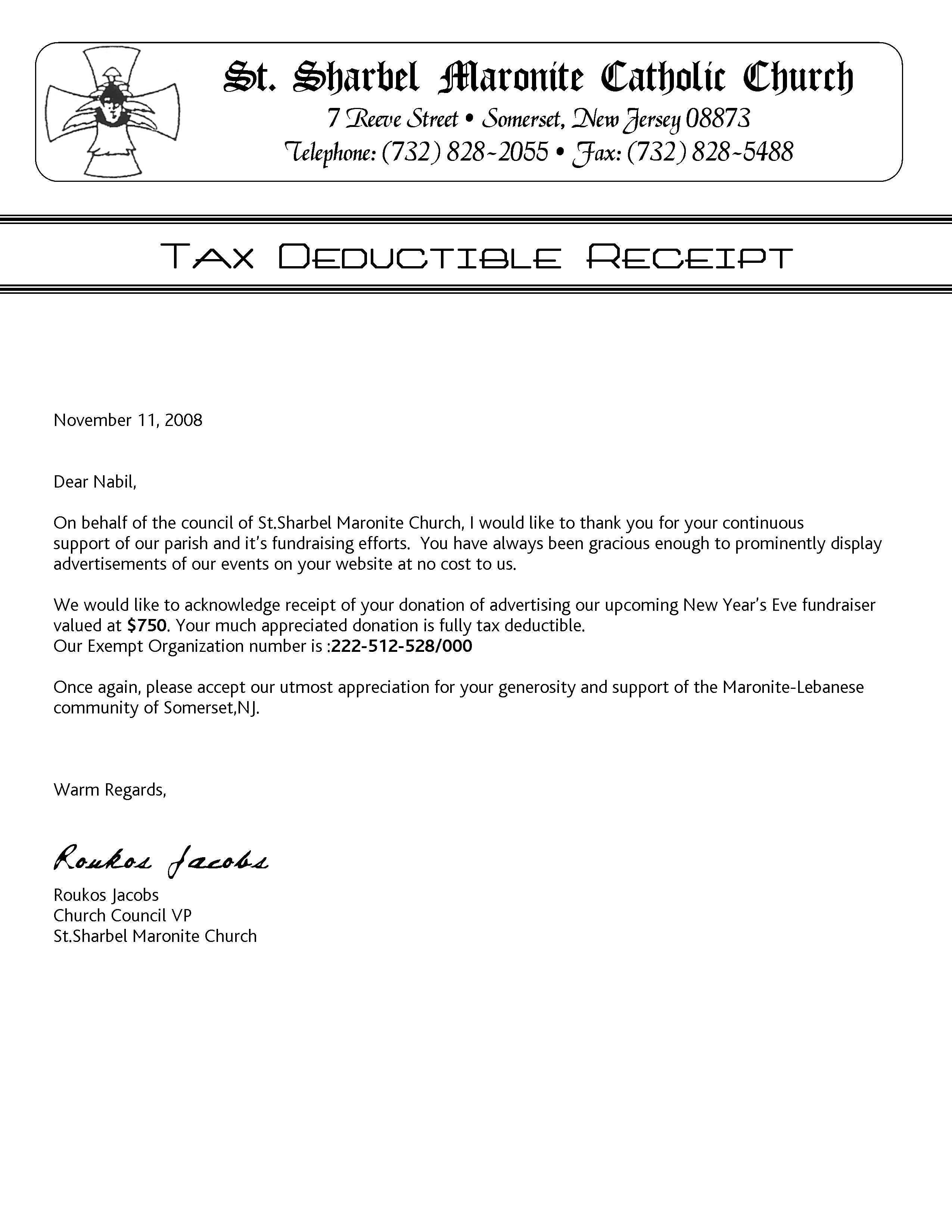 church donation letter for tax purposes template charlotte clergy