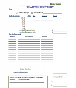 All About Offering Count Sheet Freechurchformscom Kidskunst Info